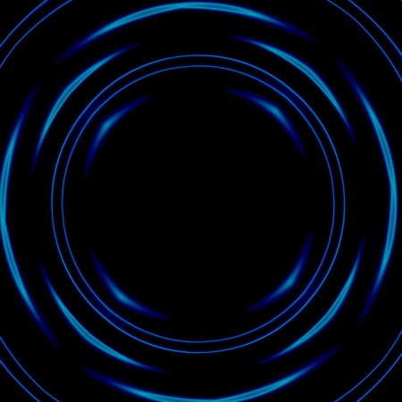 Dark psychedelic space tunnel. Design element. Abstract illustration. Round shape. Science fiction fantasy. Stylized color picture. Glass distortion. Corridor for spaceship. Time travel tunnel. Optical black hole effect. Rendered decorative ring shapes. illustration
