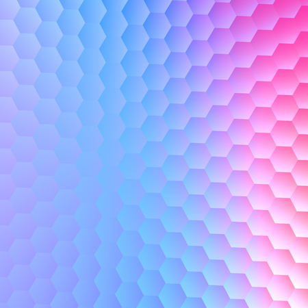 Tranquil hexagonal blue purple background. Abstract pattern for illustration design. For paper card with space for text. Blank image for cover. Modern composition for business concepts. Virtual screen. Concept  ideas for flyer banner or poster. Glass.