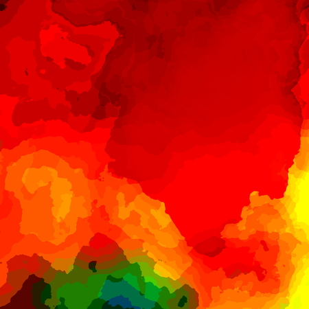 Colorful red paint background. Illustration for computer monitor. Effect image. For artsy business card. For text and print. Rainbow color design. Art presentation graphic. For web banner ad or header. Colorful watercolor splash. Acrylic paint colors. illustration