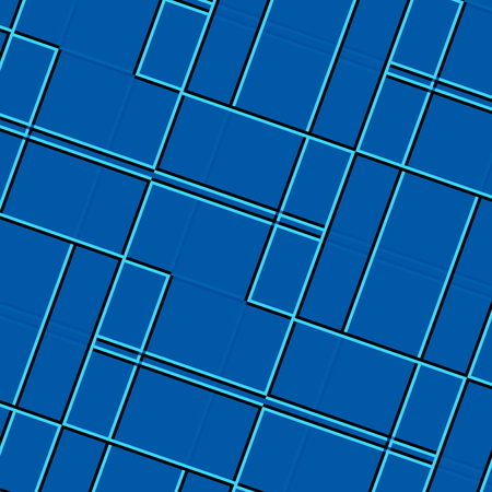 artistry: Square composition background. Blue image for computer screen. Color paper. Mosaic tile wallpaper. Glass surface elements. Abstract picture. Digital artwork. Structure with lines. Graphic for advertising or media. For creative flyer or cover. Artistry. Stock Photo