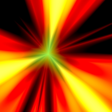 Abstract orange light illustration. Warp speed future technology. Exploding bomb. Warm colored background. Modern back design. Particle accelerator. For internet  web power line. Sunlight theme. Explosion in galaxy. Lens flare. Star burst. Element. Stock Photo