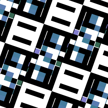 Abstract background texture. Stylish geometric design. Creative concept. Uniquely arranged boxes. Blue white black wall tile decoration. Art illustration. Screen display lcd. Fashion style pattern. Color picture. Structure graphic. Rectangles composition. illustration