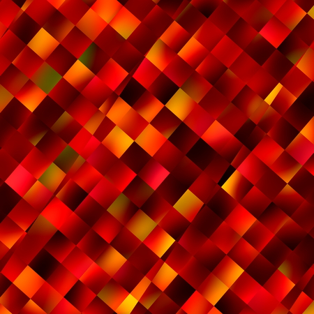 Orange background. Decoration with square pattern. Color image. Abstract art. Colour backdrop. Modern computer display backdrops. Beautiful texture effect. Colored squares in different colours. Tile wallpaper concept. Red block wall. Designer graphic. photo