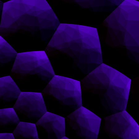 Abstract blueberry colored background blue computer illustration 3d pattern modern image design digital art on black. Decorative style. Purple color tone. Virtual mosaic tiles effect. Artificial cell in dark decor. Unique texture. Simple stylish graphic. illustration