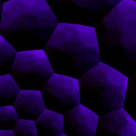 Abstract blueberry colored background blue computer illustration 3d pattern modern image design digital art on black. Decorative style. Purple color tone. Virtual mosaic tiles effect. Artificial cell in dark decor. Unique texture. Simple stylish graphic. Foto de archivo