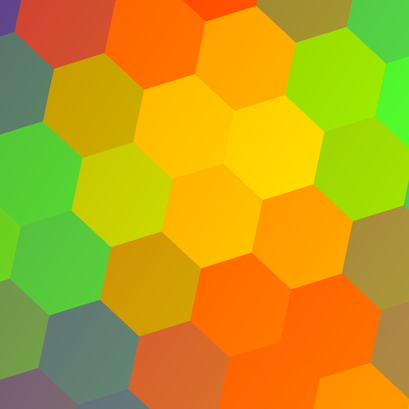 Colorful background. Hexagon texture. Template design pattern. Illustration for business card. Abstract backdrop effect. For computer screen. Collection of hexagons. Concept for presentation. Composition of simple colors. Modern hipster watercolor image. illustration