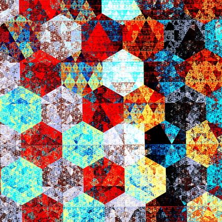 Composición del arte abstracto moderno. Diseños artísticos patrón textil. Estilo psicodélico. Fondo azul Rojo. Geométrica ejemplo hermoso. Patrones de papel tapiz. Detalle de la imagen. Fantasía pic. Telones de fondo la tecnología informática. Foto color. Colores diferentes. Foto de archivo - 41563253