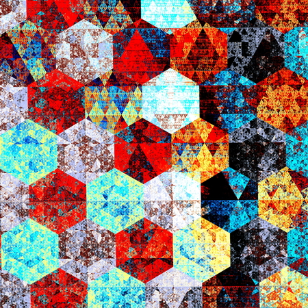 Modern abstract art composition. Artistic textile pattern design. Psychedelic style. Red blue background. Beautiful geometric illustration. Wallpaper patterns. Detail image. Fantasy pic. Computer technology backdrops. Colour picture. Different colours. illustration