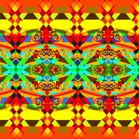 trance: Colorful psychedelic fractal pattern. Art deco style. Full frame image. Cool little messy pieces. Fancy shaped swirl series. Cyber techno trance. Random bizarre chaos. Artsy pic rendered in cartoon style. Colour fabric texture. Special unique artwork.