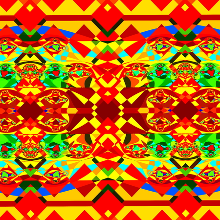 artsy: Colorful psychedelic background pattern. Modern digital art. Messy sharp clutter. Odd stylistic craft. Design in full frame. Mad and chaotic mess. Arts related graphics. Cartoony trance effect. Artsy grunge in vibrant colour. High resolution graphic.