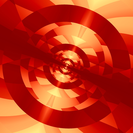full frame: Abstract technology background. 3D image render. Full frame picture. Unique visual arts. Crazy red colored passage. New technology theme. Cool periodic effect. Locked target concept. Artistic multi shape graphics. Abstract techno pattern design. Pic.