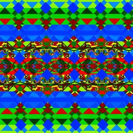 unreal: Psychedelic green and blue shapes. Odd style artwork. Loony tile mosaic. Modern digital art. Mad grunge pattern. Unreal bluish back. Unique deco graphics. Chaotic coloured mess. Vibrant green and blue colors. Beautiful art concepts. Creative element.