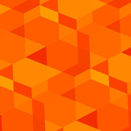 saturating: Abstract geometric orange background. Modern digital art. Made in full frame. Empty space for text. Blank virtual concept. Virtual fantasy tiles. Render of tile mosaic. Textured wall surface. Patterns in warm tone. Pattern in retro style. Texture.