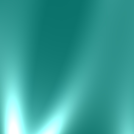 Soft teal blue background with white illumination. Cool soft blur. Cold fresh air. New smooth style. Full frame water surface. Luminous rays idea. Clean water energy concept. Pale monochrome pic. Beautiful smoky light beam. Creative art element. Image. Stock Photo