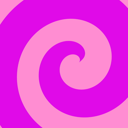 Illustration of abstract purple spiral. Cool colour tone. Funny retro poster idea. Full frame design element. Digital art pattern. Color picture style. Stylized round form. Flat pic for web page, banner magazine or screen. Blank bright creation. Stock Photo