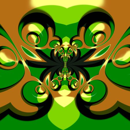 Psychedelic surrealistic shapes effect. Crazy ornate deco. Full frame picture. Freaky swirl pattern. Artsy rendering idea. Special creative style. Weird creativity image. Artificial stylish pic. Odd bizarre absurdity. Uncommon dynamic art decoration.