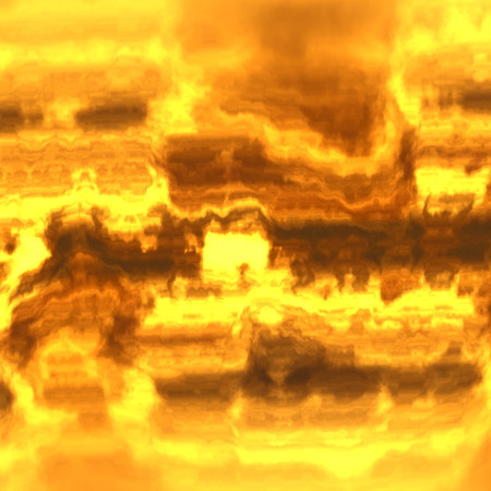 Abstract hot sun plasma. Hot glowing lava. Soft blurry chaos. Weird burning fire. Blazing fire flame. Shiny image fantasy. Molten dirt pattern. Made with brown color blurs. Yellow colored smoke. Odd background design. Front and back design. Texture.