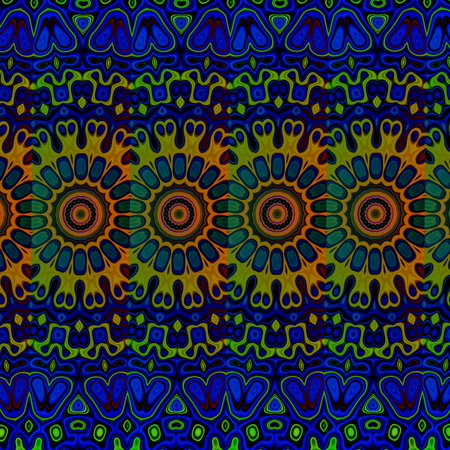 Blue psychedelic pattern background. Cool arab arts. Loony blob pic. Tribal art concept. Odd blue and green colored blots. Modern ornate style. Creative art concept. Unique detailed deco. Rare groovy graphics. Peculiar cyber dream. Ethnic texture sample.