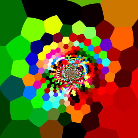 freaky: Distorted hexagons in full color spectrum. Digital fantasy pic. Dynamic ornate back. Futuristic facet mix. Vibrant colour theme. Modern stylistic art. Trendy design element. Cool funky decoration. Bright rainbow colors. High tech compositions. Lattice.