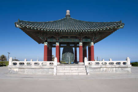 san pedro: Korean Freindship Bell Los Angeles Stock Photo
