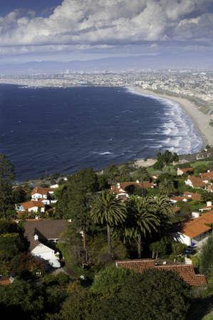 california beach: Beautiful day in December in Sunny Southern California