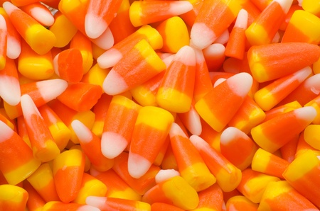 Abstract Macro of candy corn.