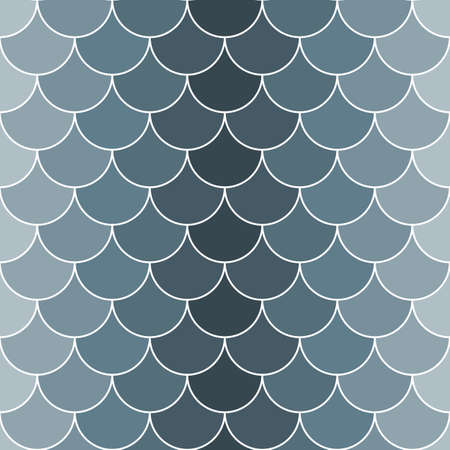Seamless pattern with grayscale scales. Vector image in shades of gray. Can be used as a background for websites and printing.