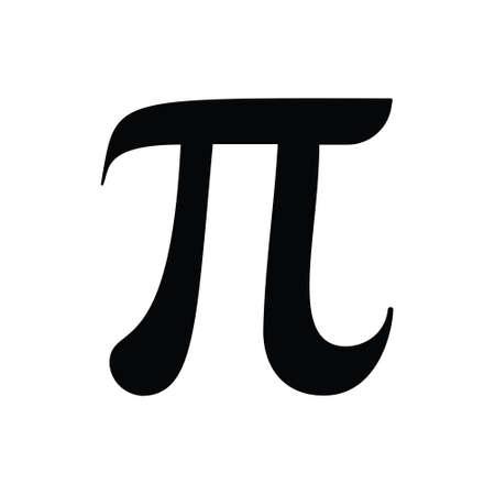 Number Pi Sign Vector Letter