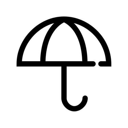 Insurance umbrella icon. Linear vector set. EPS10.