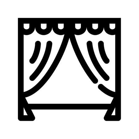 Stage outline icon. Element from the set dedicated to the theater. 矢量图像