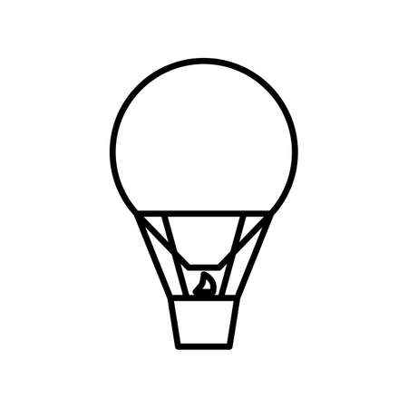 Ballon outline icon. Black and white vector item from set, dedicated to science and technology.