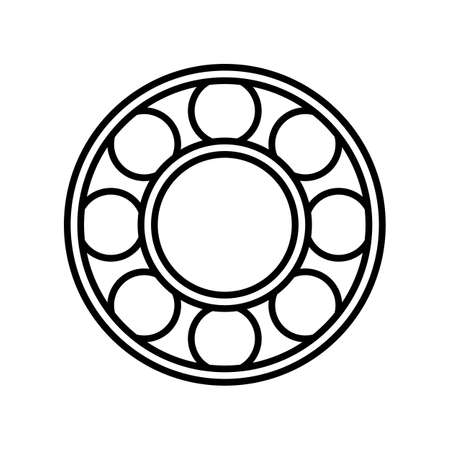 Bearing outline icon. Black and white vector item from set, dedicated to science and technology.