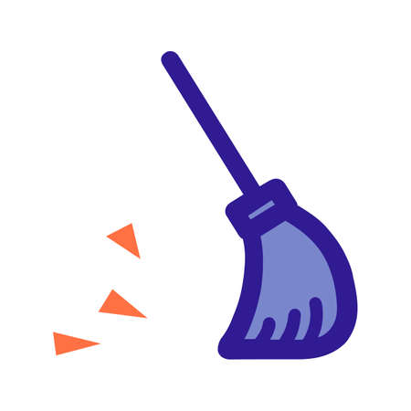 Broom outline icon. Vector item from set, dedicated to cleaning and hygiene.
