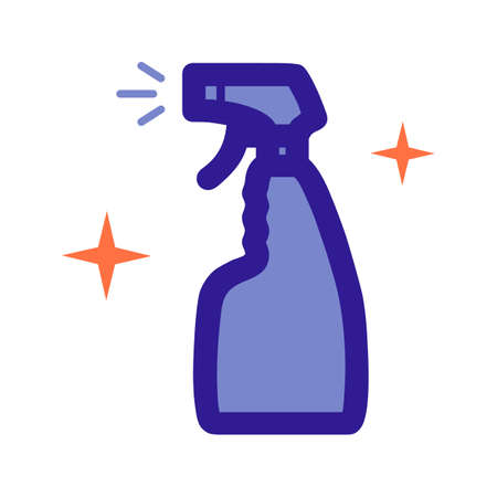 Cleaning agent atomizer outline icon. Vector item from set, dedicated to cleaning and hygiene.