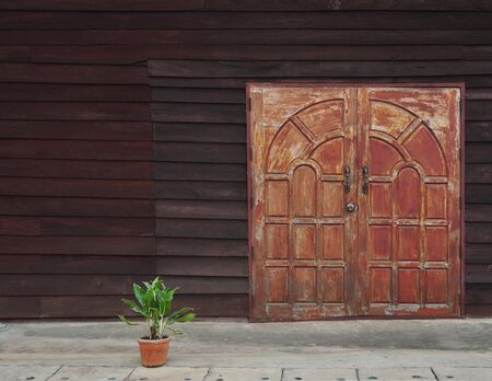 view of a wooden doorway: Thailand Old