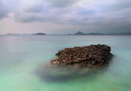 con dao: Sea stones. Stock Photo