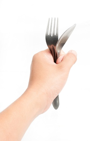 Holding a fork photo