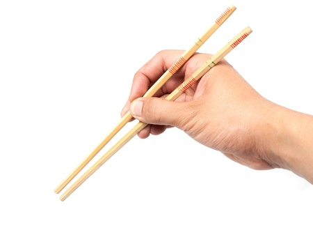Hold chopsticks  photo
