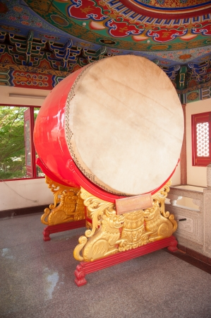 chinese drum: hanging drum in chinese temple