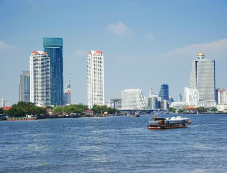 Bangkok city along chao praya river,Thailand Stock Photo - 18401273