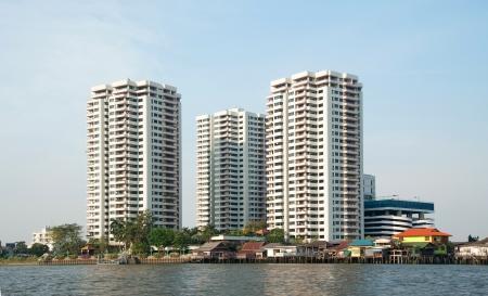 chao praya: Bangkok city along chao praya river,Thailand Editorial