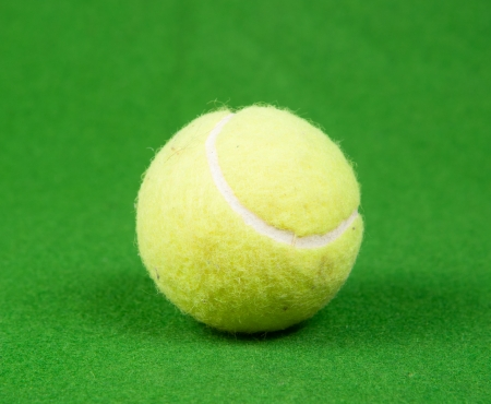 Tennis ball isolated on white
