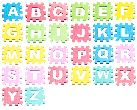 A-Z Learning blocks isolated over white photo