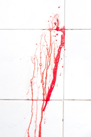 Background with flowing blood photo