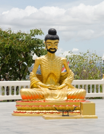 recluse: Ascetic statue at the temple, Thailand