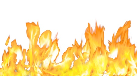 backgound: Fire flame isolated on white backgound Stock Photo