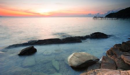 koh samet: Ocean twilight at Koh Samet, Thailand