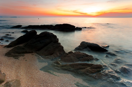 koh samet: Ocean twilight at Koh Samet, Thailand