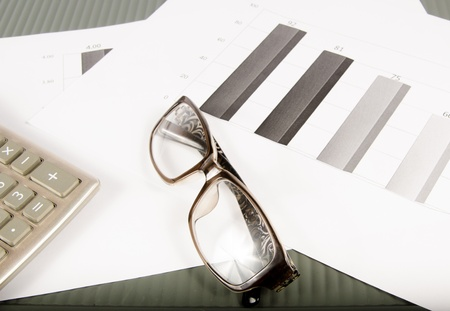 Pen, Glasses and Patient Form on desktop in business office. Stock Photo