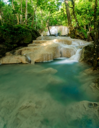 arawan waterfall in Kanchanaburi Thailand photo